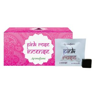 Aromafume Box of 18 Individually Wrapped Incense Bricks... PINK ROSE